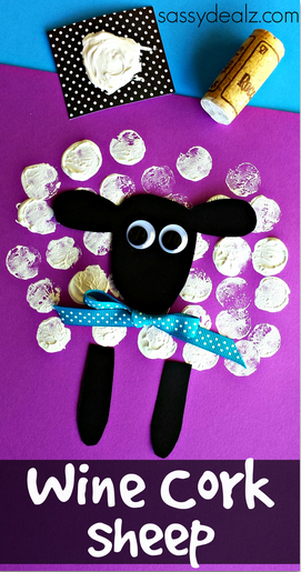 Wine cork sheep craft for kids crafty morning for Kids crafts with wine corks