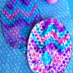 Bubble Wrap Easter Egg Stamp Craft for Kids