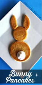 Easy Bunny Pancake Breakfast for Kids