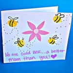 Fingerprint Bee Mother's Day Card for Kids to Make