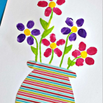 Fingerprint Flower Pot Craft for Kids to Make