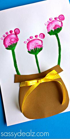flower-pot-footprint-craft-for-kids