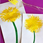 Make Dandelions Using a Fork (Kids Craft)