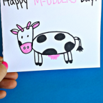 Cow Mother's Day Card Idea for Kids to Make