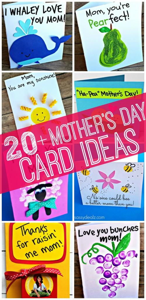 Easy Mother S Day Cards Crafts For Kids To Make Crafty Morning