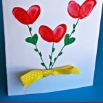 Fingerprint Flower Mother's Day Card