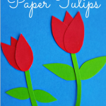 How to Make Paper Tulips - Easy Kids Craft