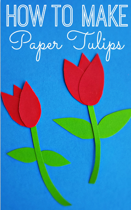 How To Make Paper Tulips Easy Kids Craft Crafty Morning