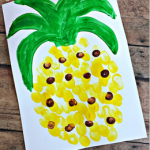 Fingerprint Pineapple Craft for Kids