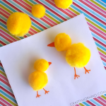 Easy Pom Pom Chicks Craft for Kids