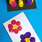 Flower Pom Pom Painting Craft for Kids