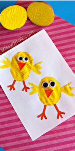 Chick Potato Stamping Craft for Kids
