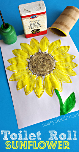 toilet-paper-roll-sunflower-craft