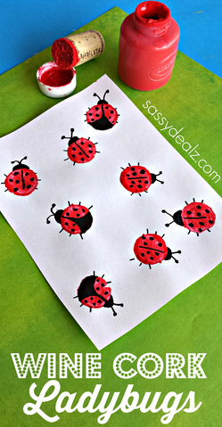 Wine cork ladybugs craft for kids crafty morning for Kids crafts with wine corks