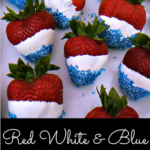 4th of July Strawberries (Red, White, & Blue Treats)