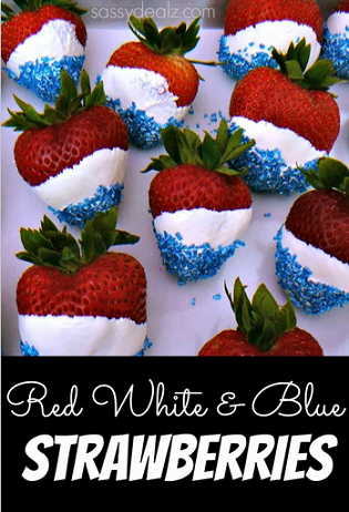 4th of july strawberries red white blue treats - Sassydeals com ...