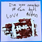 "Handprint Football ""I'm Your #1 Fan"" Father's Day Card"