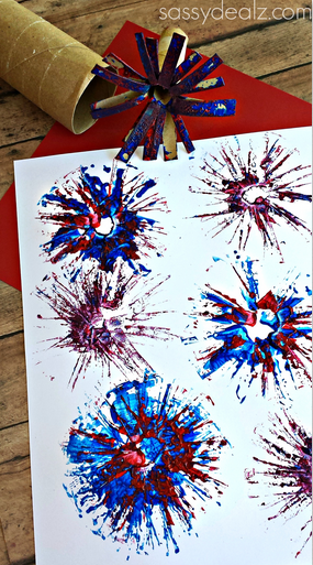 Toilet Paper Roll Fireworks Craft For Kids Crafty Morning
