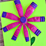 Water Bottle Flower Craft for Kids