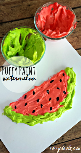 Puffy Paint Watermelon Craft for Kids
