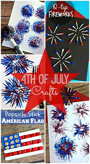 The 4th of July is coming up and it's always fun to do patriotic crafts with your kids! Here is a list of art projects we made that are easy and fun to make! Just click on .