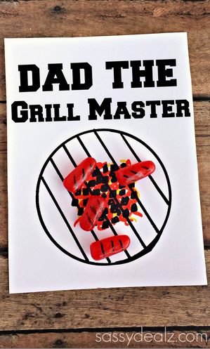 Grill Master Fathers Day Card Using Mike Amp Ikes Crafty