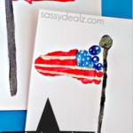 Footprint American Flag Craft for Kids