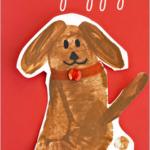 Footprint Puppy Dog Craft for Kids
