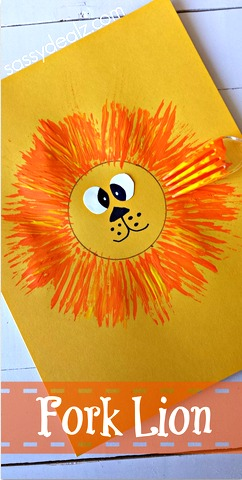 fork-lion-craft-for-kids