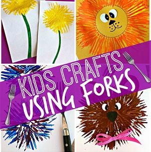 Kids Craft Ideas Using a Fork