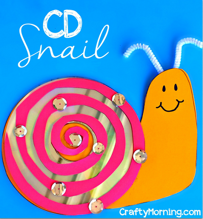 CD Snail Craft for Kids to Make