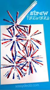 Fireworks Craft for Kids Using Straws