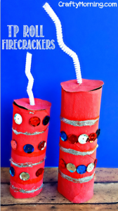 Toilet Paper Roll Firecracker Craft for Kids
