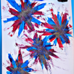 Make Firework Prints Using a Toothbrush