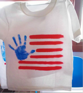 DIY Handprint American Flag T-Shirt for Kids