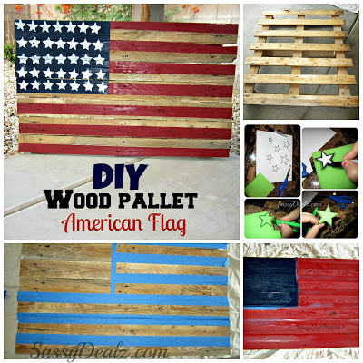 Diy How To Make An American Flag Out Of A Wood Pallet