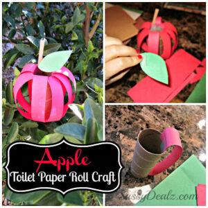 DIY Apple Toilet Paper Roll Craft for Kids