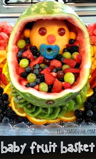 baby fruit basket for a baby shower