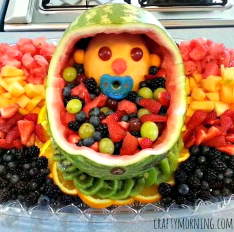 DIY Baby Fruit Basket for a Baby Shower