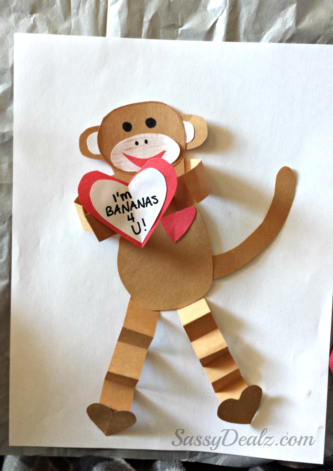 Valentine 39 s day heart monkey craft for kids crafty morning for Valentine day crafts for kids