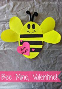 """Bee Mine"" Valentine's Day Craft For Kids"