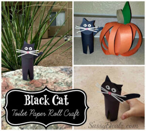 Easy Black Cat Toilet Paper Roll Craft For Kids