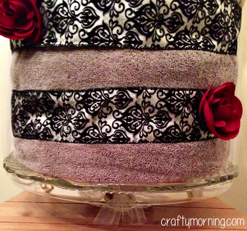 bridal shower towel cake gift idea