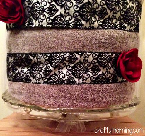 DIY Bridal Shower Towel Cake Gift Idea Crafty Morning