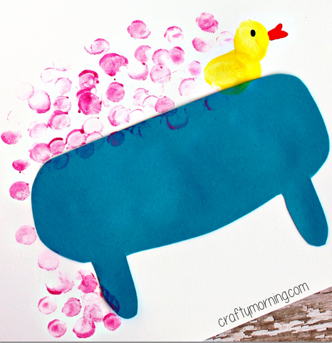 bubble bath fingerprint craft for kids