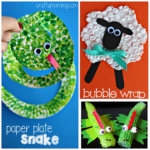 Bubble Wrap Painting & Printing Art Projects