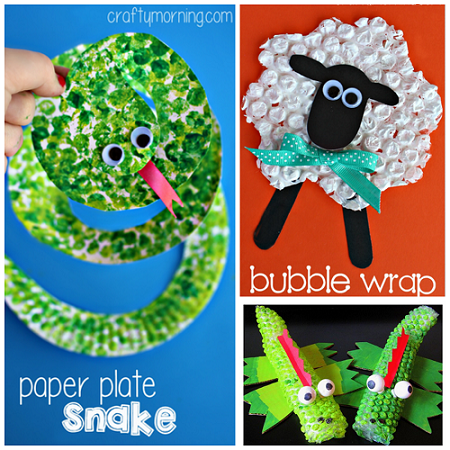 Bubble wrap painting printing art projects crafty morning for Bubble wrap art projects