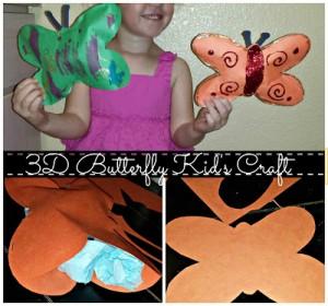 DIY: Cheap 3D Tissue Paper Butterfly Kid's Craft