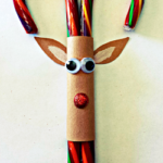 Candy Cane Reindeer Christmas Craft or Treat For Kids