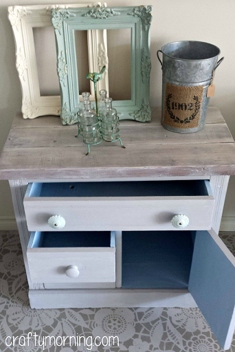 Annie Sloan Chalk Paint Idea - Furniture Makeover - Crafty Morning